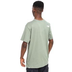 M S/S Simple Dome Tee - Eu Erkek Yeşil Outdoor Tişört NF0A2TX5V381