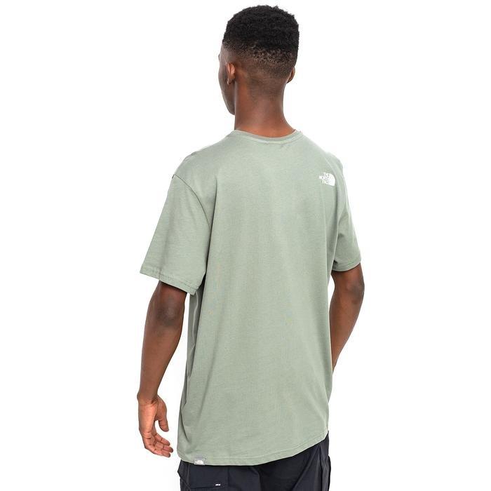 M S/S Simple Dome Tee - Eu Erkek Yeşil Outdoor Tişört NF0A2TX5V381 1280189