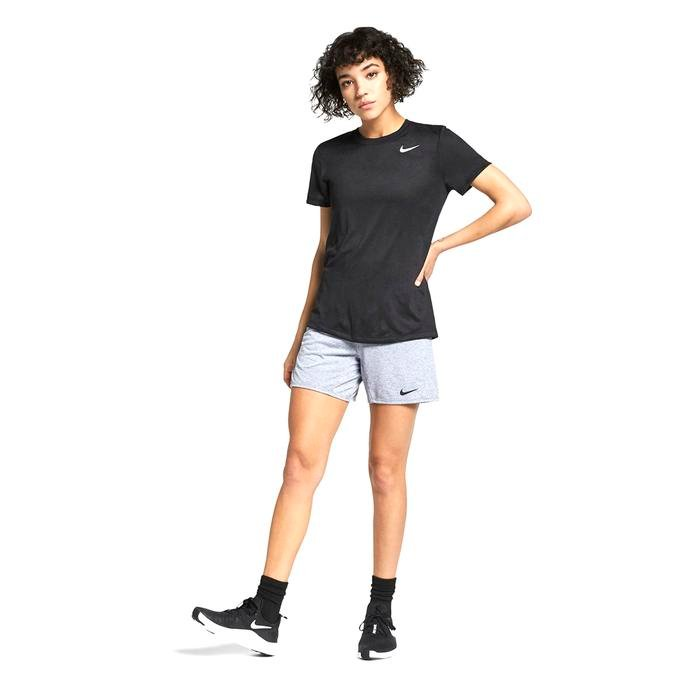 W Nk Dry Leg Tee Crew Kadın Siyah Antrenman Tişört AQ3210-010 1285570