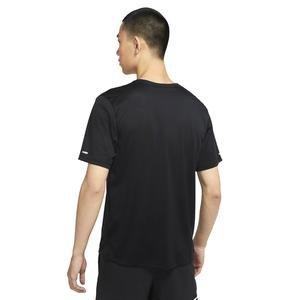 M Nk Df Miler Top Ss Wr Gx Erkek Siyah Koşu Tişört DA1181-010