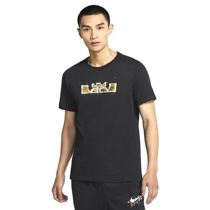 M Nk Dry Lbj Ssnl Logo Tee Erkek Siyah Basketbol Tişört DD0783-011 1286491