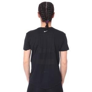 Miler Top Kadın Siyah Koşu Tişört AJ8121-010