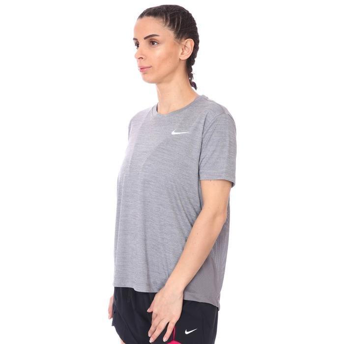 Miler Top Kadın Gri Koşu Tişört AJ8121-056 1112567