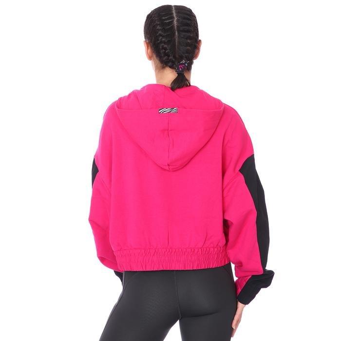 W Nsw Icn Clsh Hoodie Qz Mix Kadın Pembe Günlük Stil Sweatshirt CZ8164-615 1274342