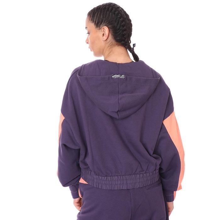 W Nsw Icn Clsh Hoodıe Qz Mix Kadın Mor Günlük Stil Sweatshirt CZ8164-573 1273516
