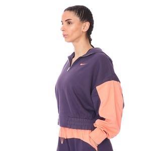 W Nsw Icn Clsh Hoodıe Qz Mix Kadın Mor Günlük Stil Sweatshirt CZ8164-573