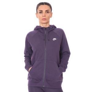 W Nsw Essntl Flc Fz Hoodie Kadın Mor Günlük Stil Sweatshirt BV4122-574