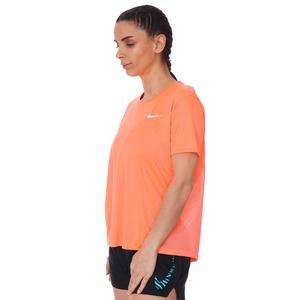 W Nk Miler Top Ss Kadın Turuncu Koşu Tişört AJ8121-854