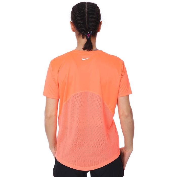 W Nk Miler Top Ss Kadın Turuncu Koşu Tişört AJ8121-854 1272276