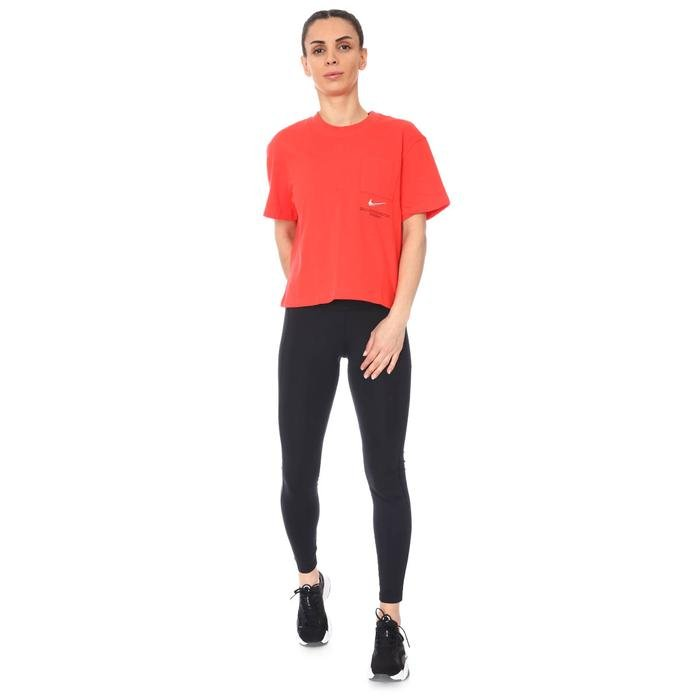 W Nsw Swsh Ss Top Kadın Kırmızı Günlük Stil Tişört CZ8911-696 1274664
