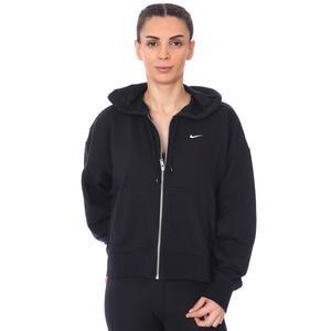 W Nk Dry Get Fit Flc Grx Fz Kadın Siyah Antrenman Sweatshirt DA0378-010