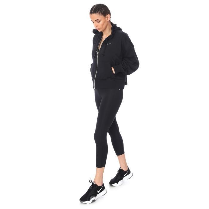 W Nk Dry Get Fit Flc Grx Fz Kadın Siyah Antrenman Sweatshirt DA0378-010 1274369