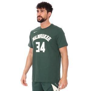 Milwaukee Bucks Earned Edition NBA Tee Es Nn Erkek Yeşil Basketbol Tişört CV8534-326