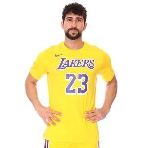 Los Angeles Lakers NBA Lebron Tee Es Nn Erkek Sarı Basketbol Tişört CV8528-730