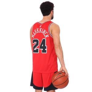 Lauri Markkanen Bulls Icon Edition NBA Erkek Kırmızı Basketbol Atlet CW3660-658