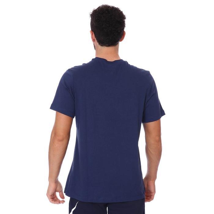 M Nsw Tee Swoosh 12 Month Erkek Mavi Günlük Stil Tişört DB6470-410 1271682