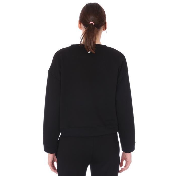 Spo-Overwomsweat Kadın Siyah Günlük Stil Sweatshirt 711239-SYH-R 1279527
