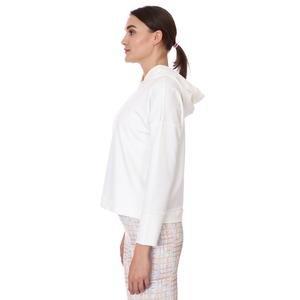 Spo-Firbolcropnewtop Kadın Beyaz Günlük Stil Sweatshirt 712106-BYZ