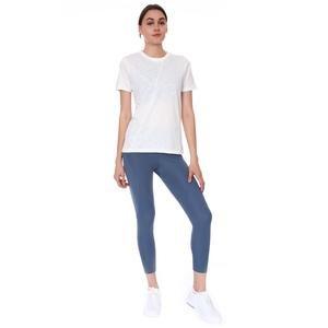 Spo-Assymetric Tee Kadın Beyaz Günlük Stil Tişört 712107-BYZ