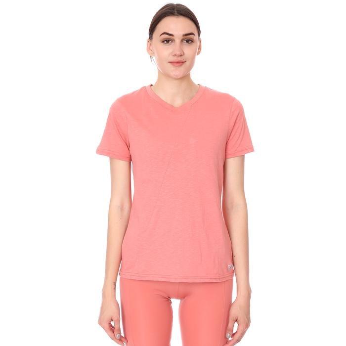 Spo-Assymetric Tee Kadın Pembe Günlük Stil Tişört 712107-PMB 1280768