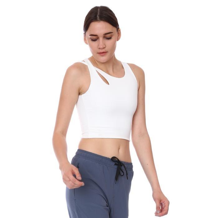 Spo-Assymetric Crop Kadın Beyaz Günlük Stil Sporcu Sütyeni 712102-EKR 1280706