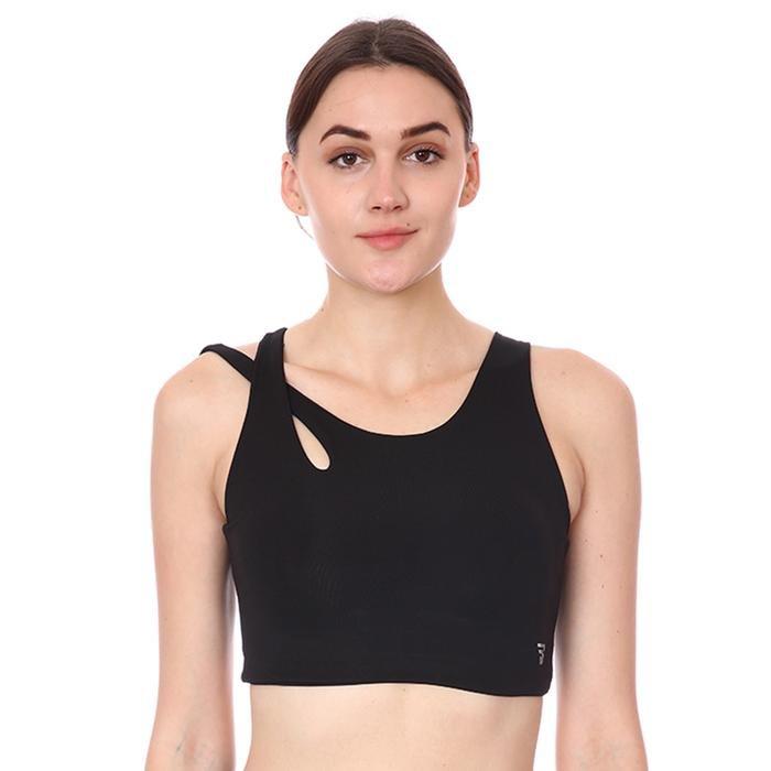 Spo-Assymetric Bra Kadın Siyah Günlük Stil Sporcu Sütyeni 712109-SYH 1287487