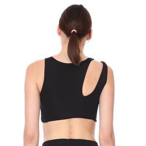 Spo-Assymetric Bra Kadın Siyah Günlük Stil Sporcu Sütyeni 712109-SYH