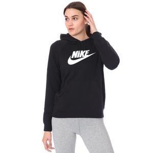 W Nsw Essntl Flc Gx Hoodie Kadın Siyah Günlük Stil Sweatshirt BV4126-010