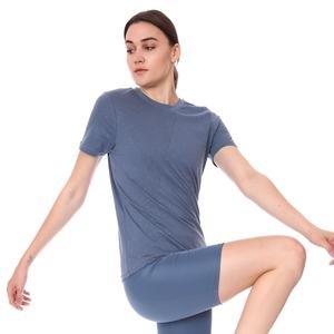 Spo-Assymetric Tee Kadın Lacivert Günlük Stil Tişört 712107-LCV