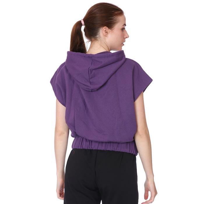 Swecropwom Kadın Mor Koşu Sweatshirt 710727-MOR 1093027