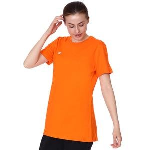 Basic Kadın Turuncu Günlük Stil Tişört TKC100105-TRN