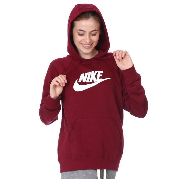 W Nsw Essntl Kadın Kırmızı Günlük Sweatshirt BV4126-638 1233718